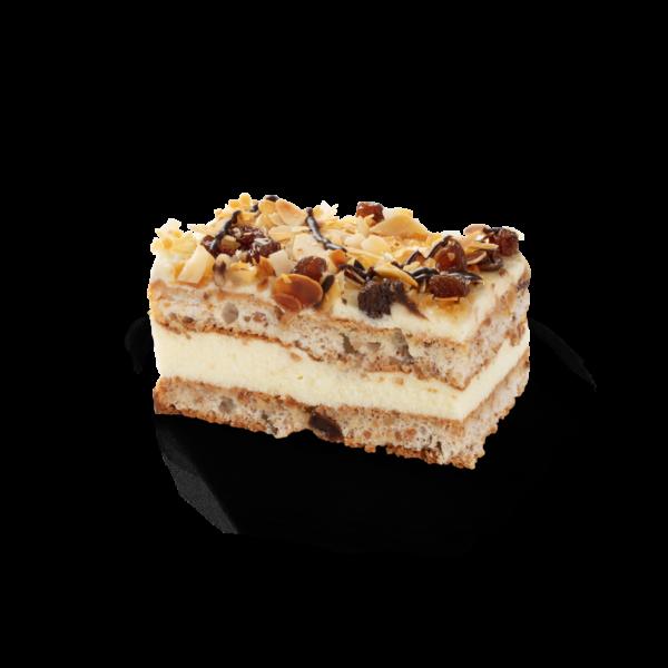 Raisin, nuts & cream cake